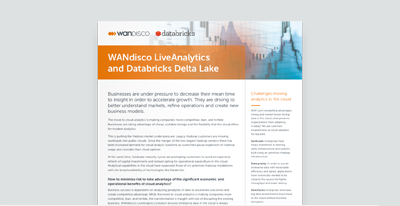 WANdisco LiveAnalytics and Databricks Delta Lake
